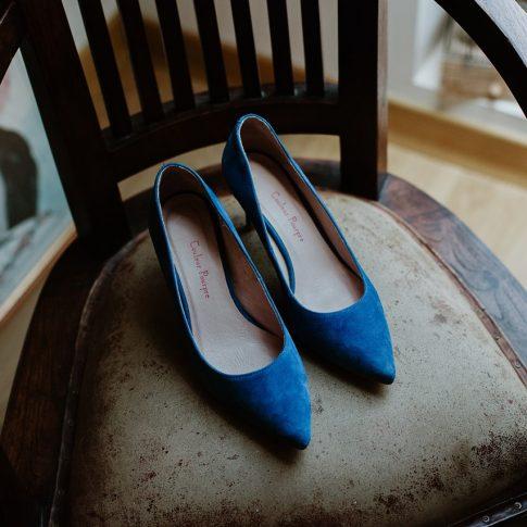 Chaussure mariée couleur pourpre