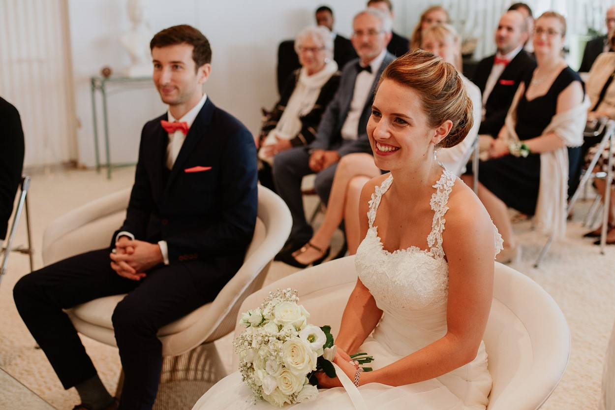 Portrait mariés mairie La Baule