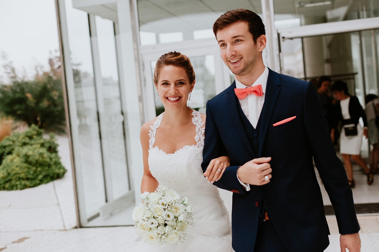 sortie mariés mairie la baule