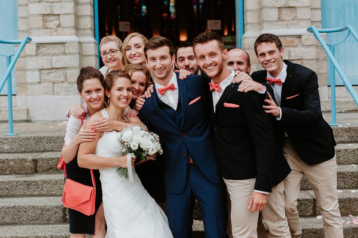 photo groupe mariés et témoins