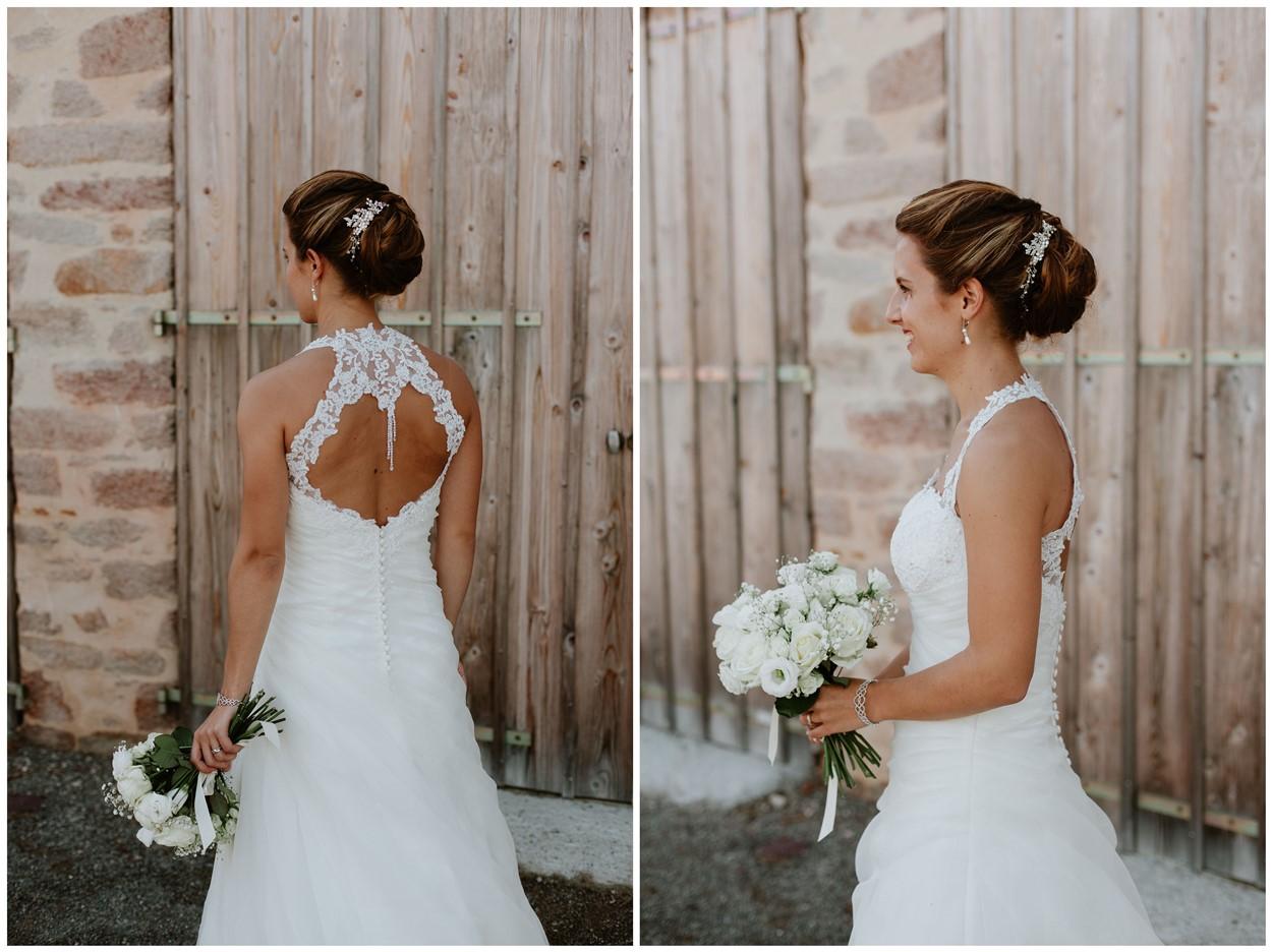 portrait et détails mariée robe