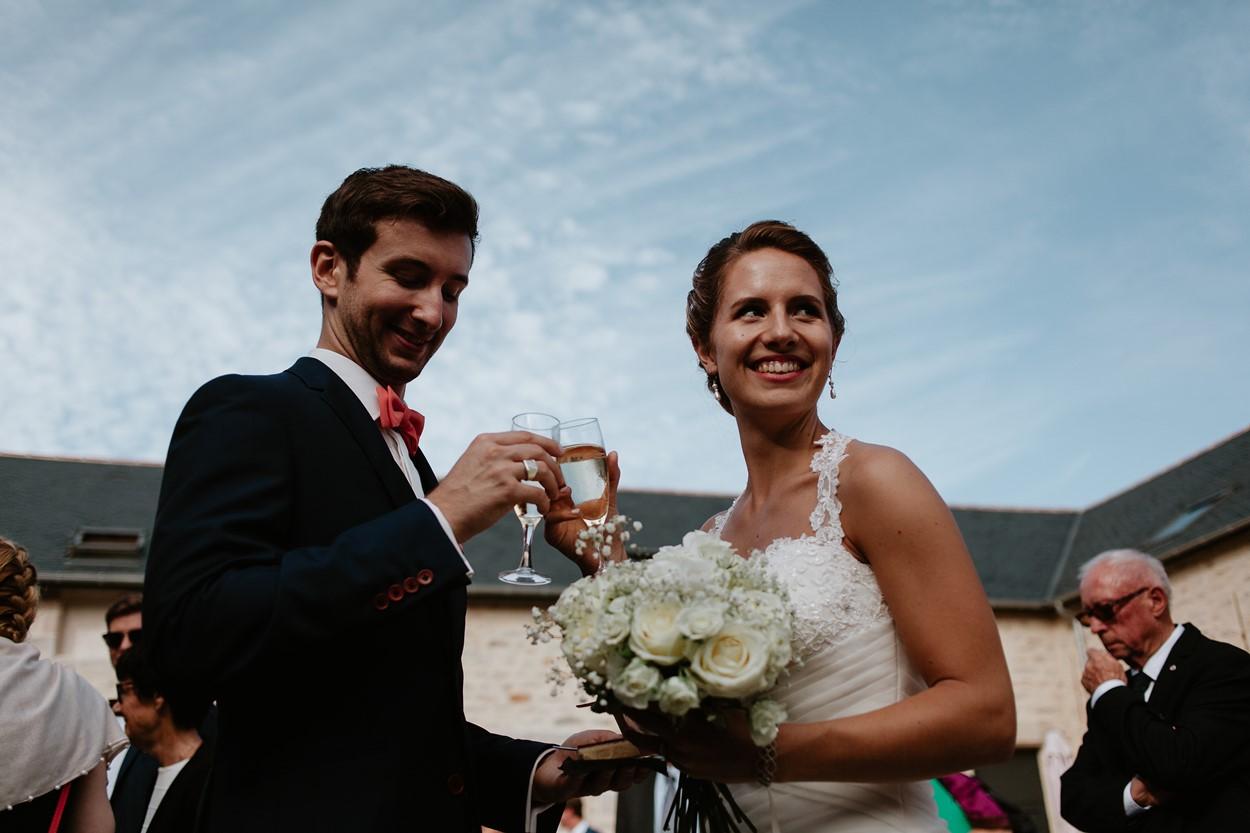 champagne mariés cocktail