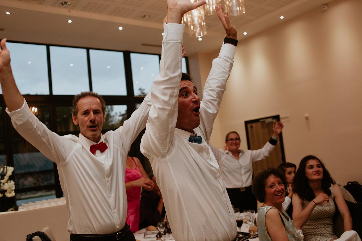 invités mariage ferme lauvergnac