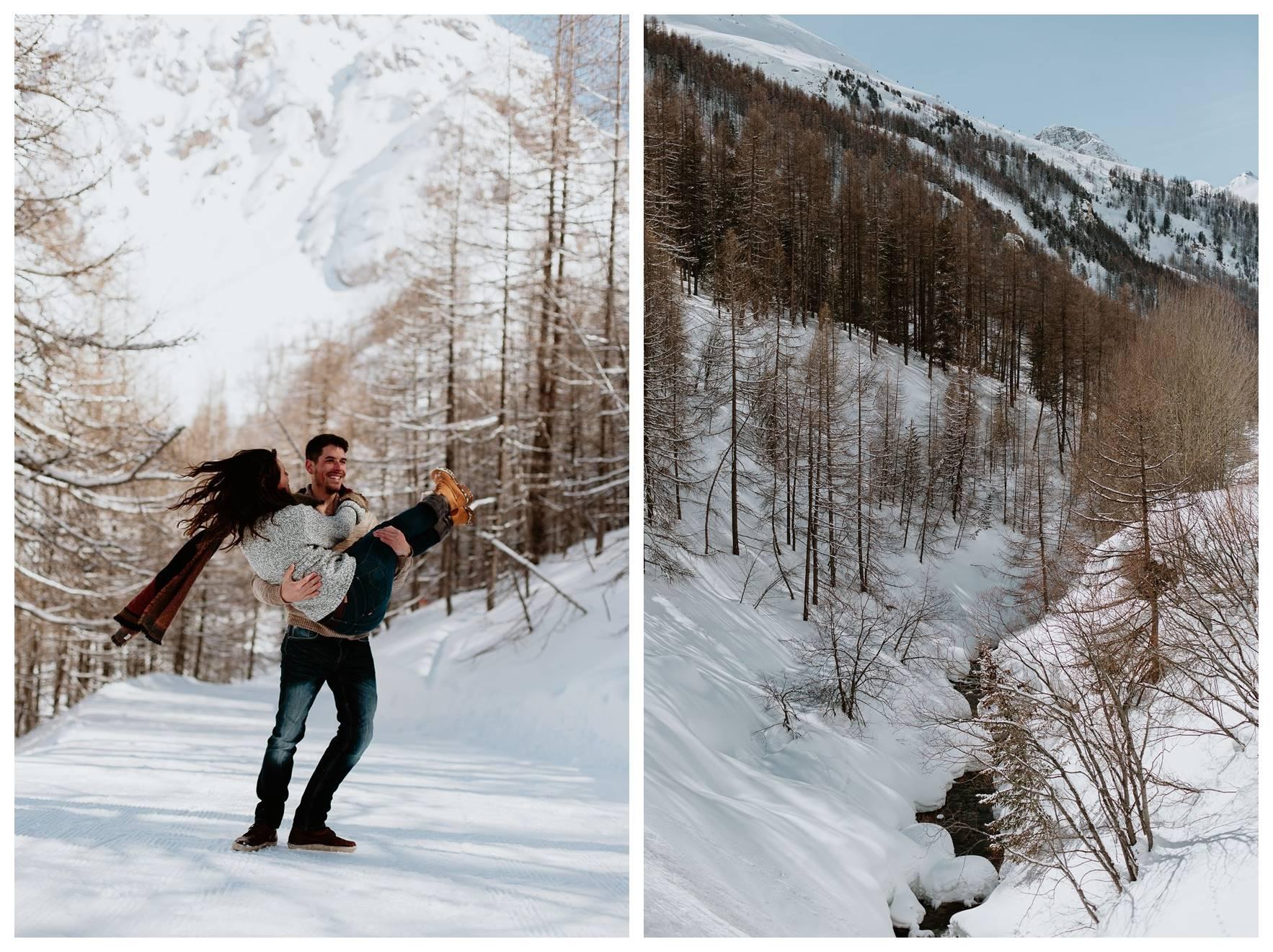 séance couple montagne jeux couple paysage