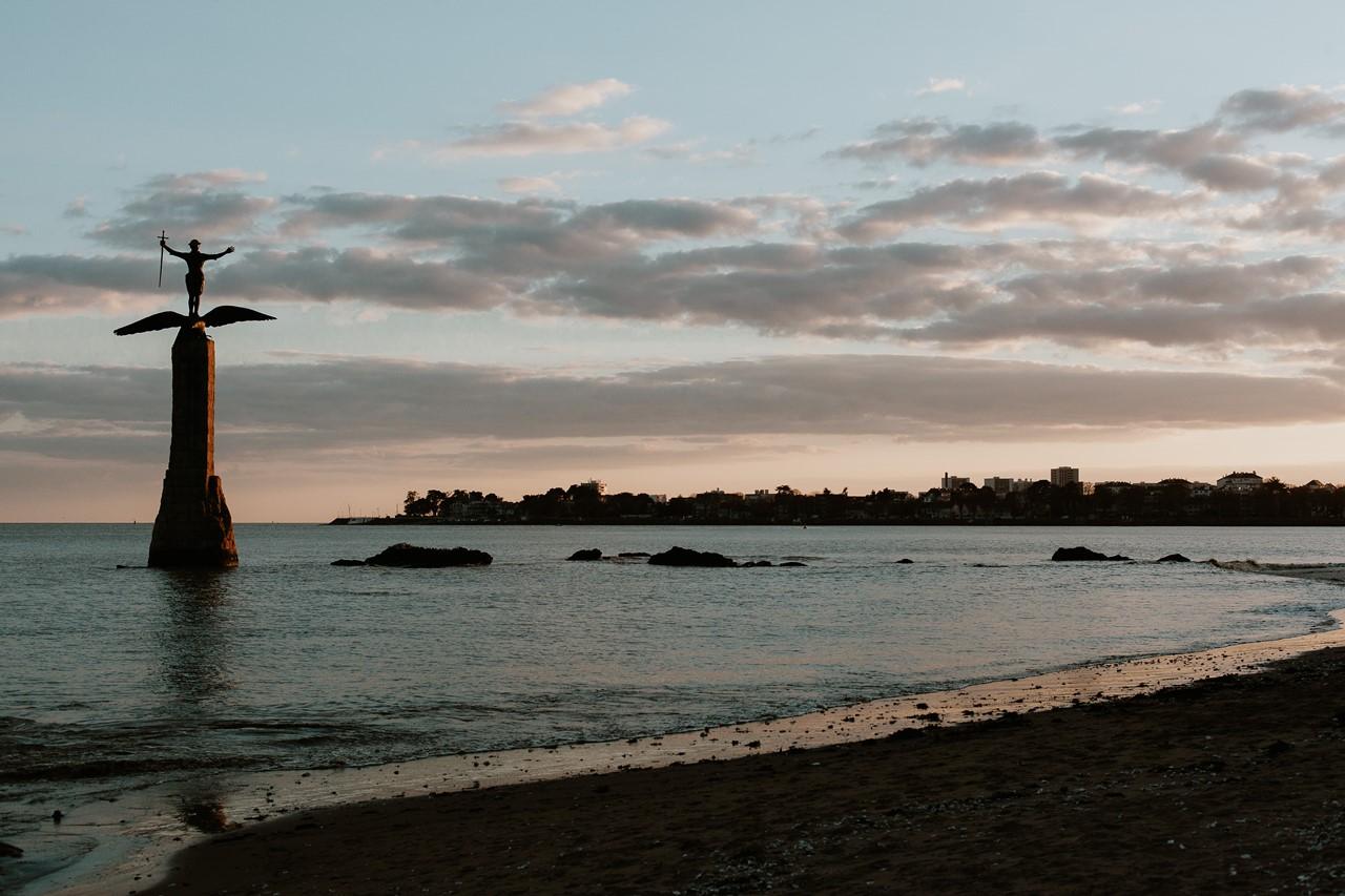 Paysage plage saint-nazaire