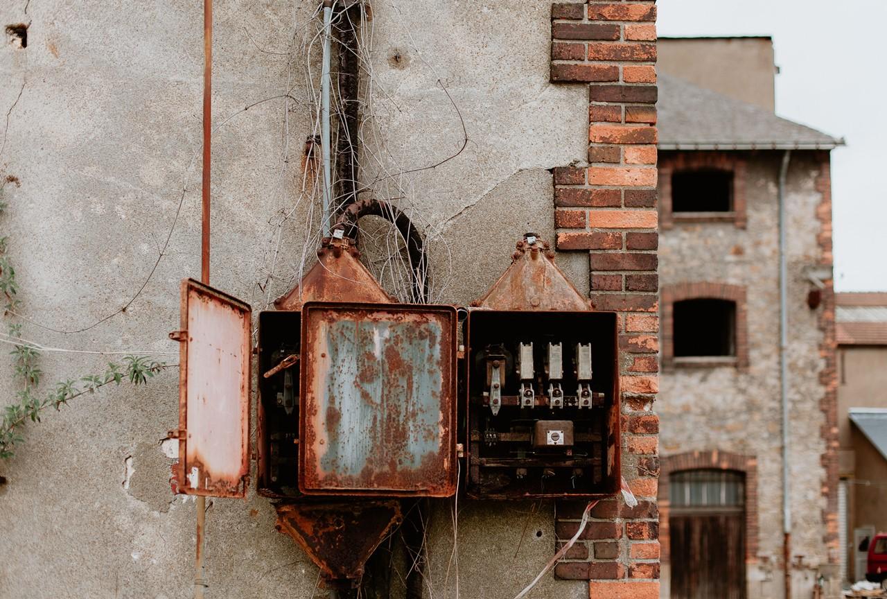 détails industriels bâtiment désafecté chantenay nantes