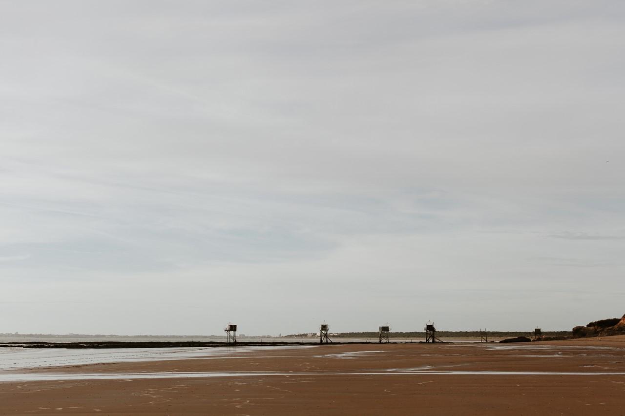 séance engagement plage mer pornic paysage