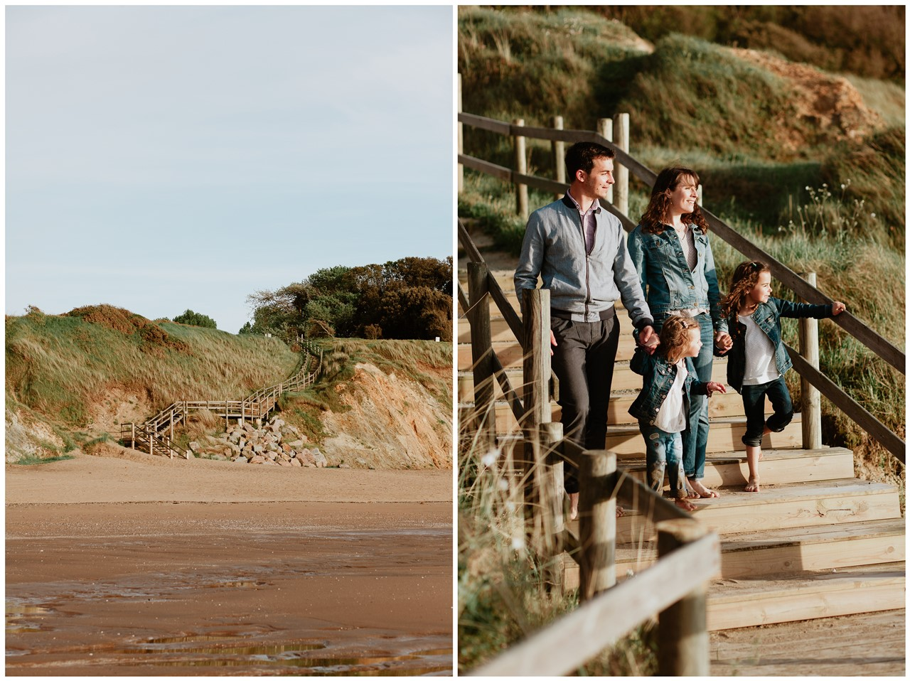 séance famille plage mer pornic portrait famille paysage