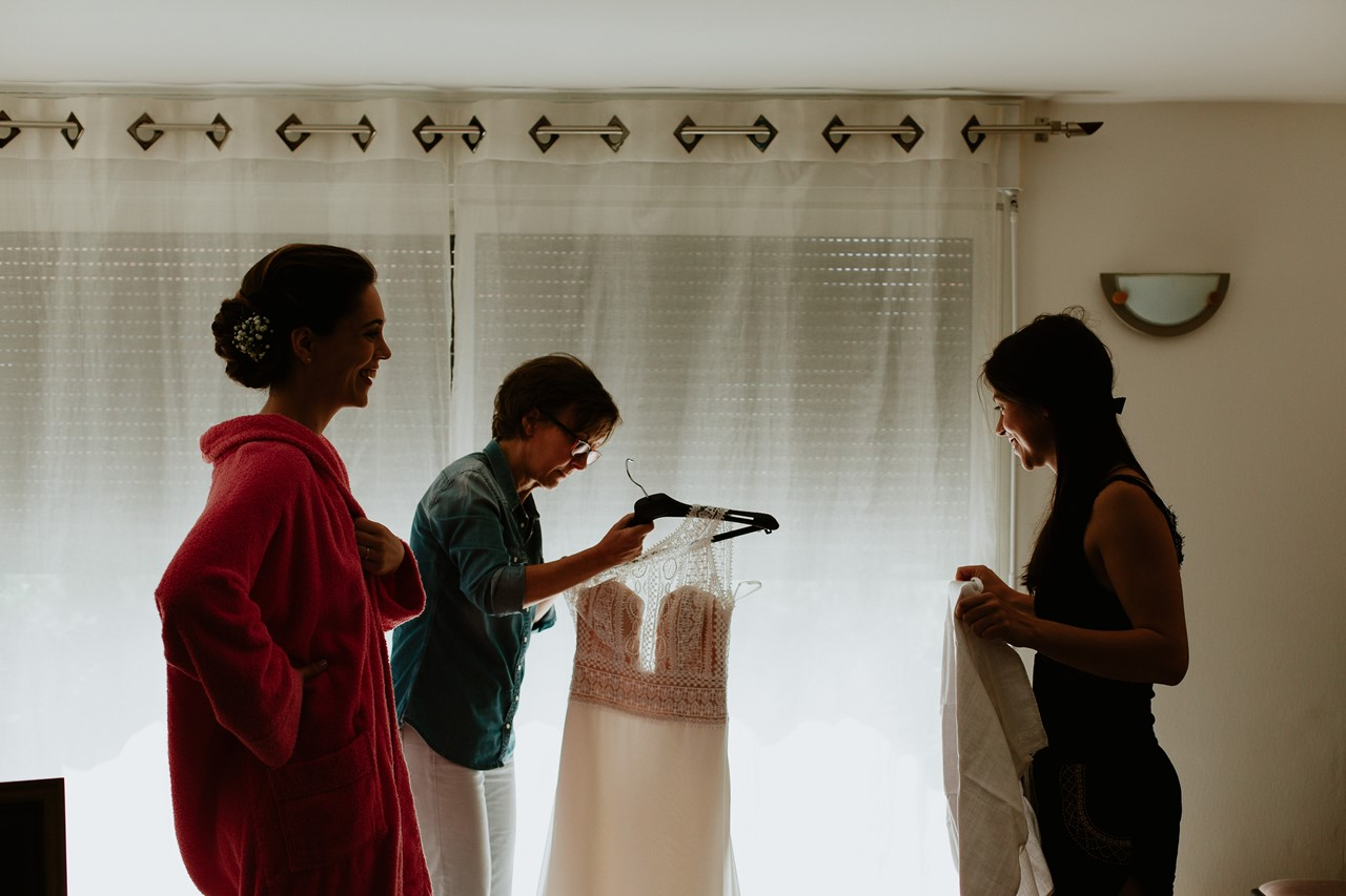 mariage cholet préparation mariée décrochage robe