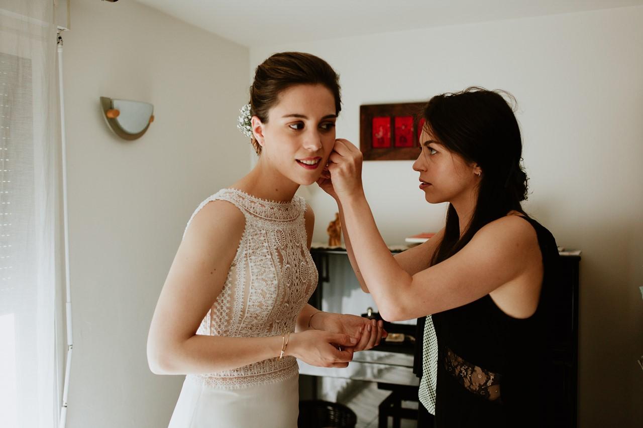 mariage cholet préparation mariée boucles d'oreille soeur mariée