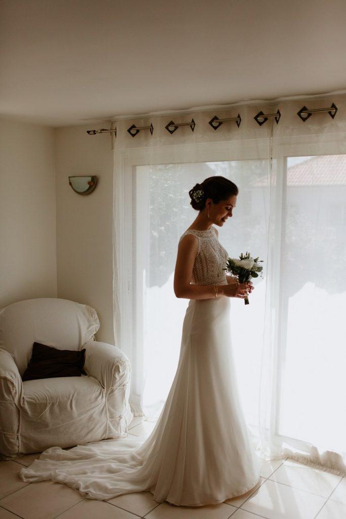 mariage cholet préparation portrait robe mariée