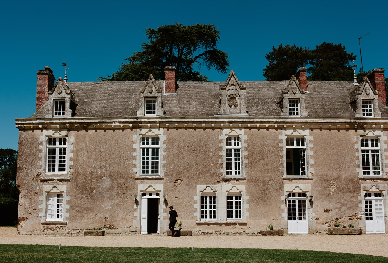 mariage angers château de la Cartrie façade