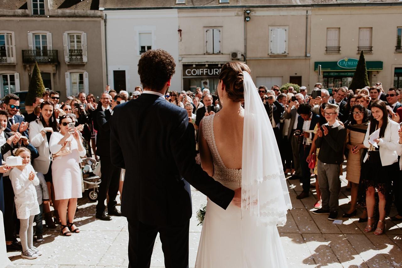 mariage angers sortie église invités mariés