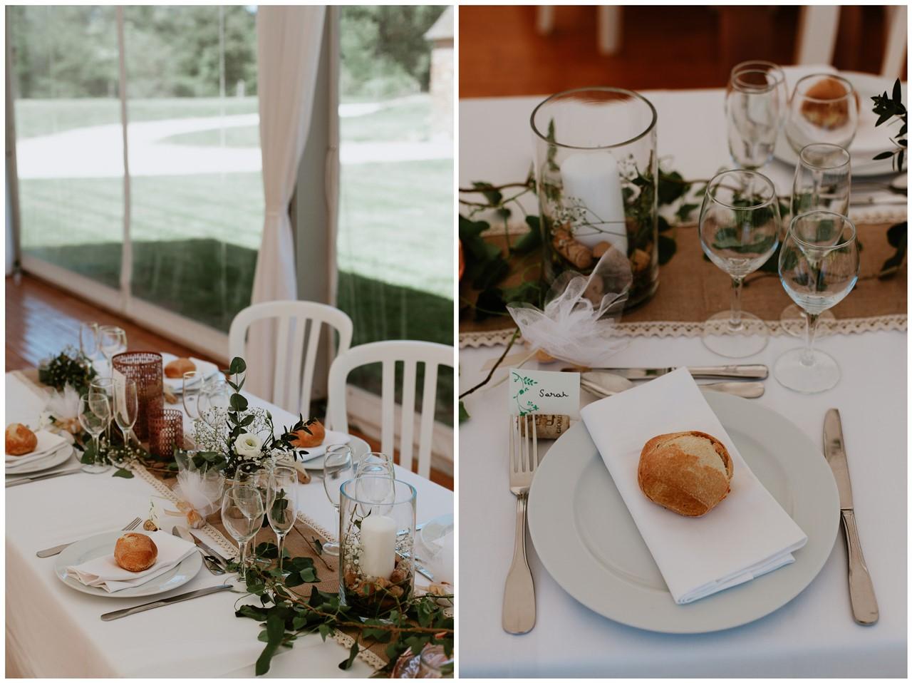mariage angers château de la Cartrie détails tables décoration