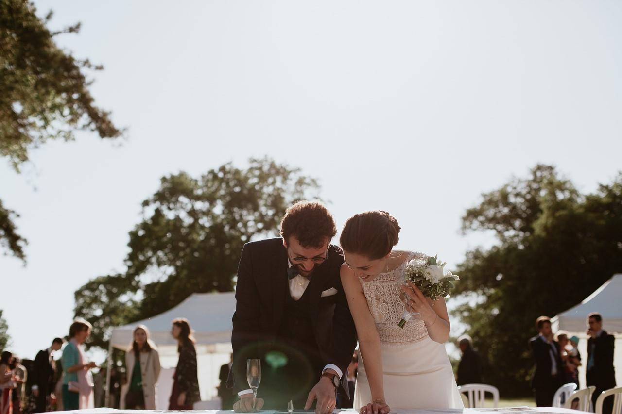 mariage angers château de la Cartrie cocktail photo mariés invités