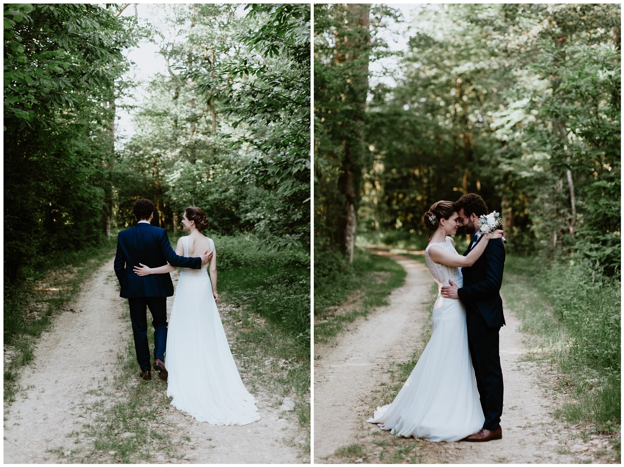 mariage angers château de la Cartrie photo couple ballade calin