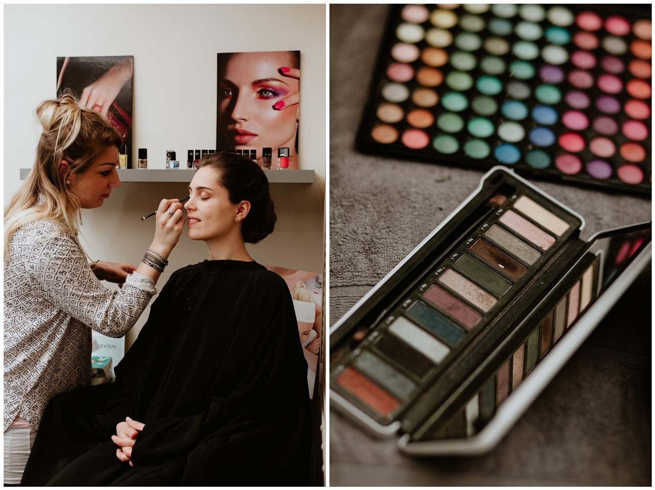 mariage cholet préparation mariée maquillage