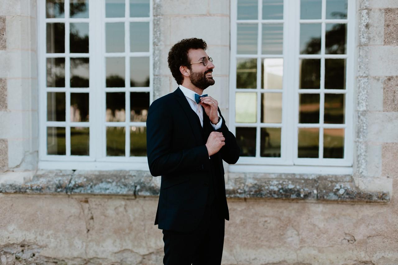 mariage angers château de la Cartrie photo couple portrait marié