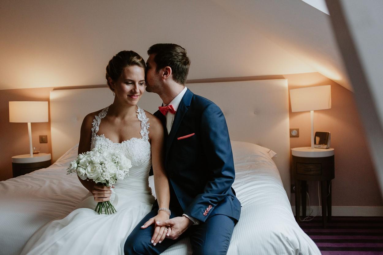 Photo couple marié château des Tourelles