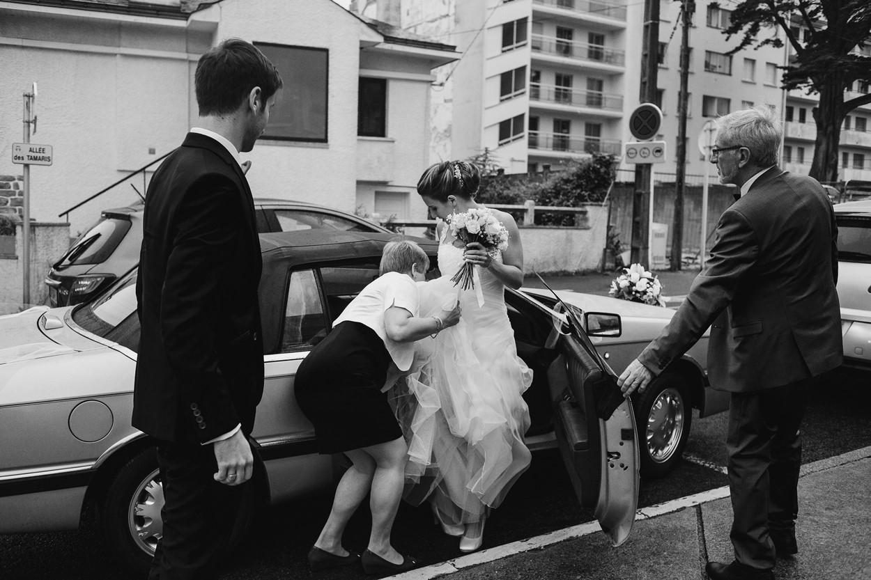 Arrivée mariés mairie La Baule