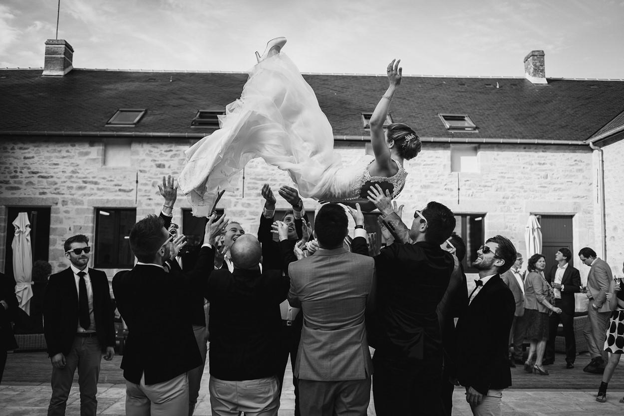 jeté mariée témoins