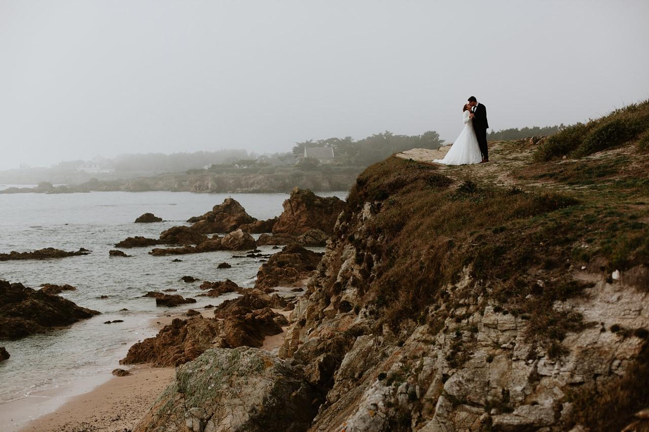Séance mariés Batz sur mer