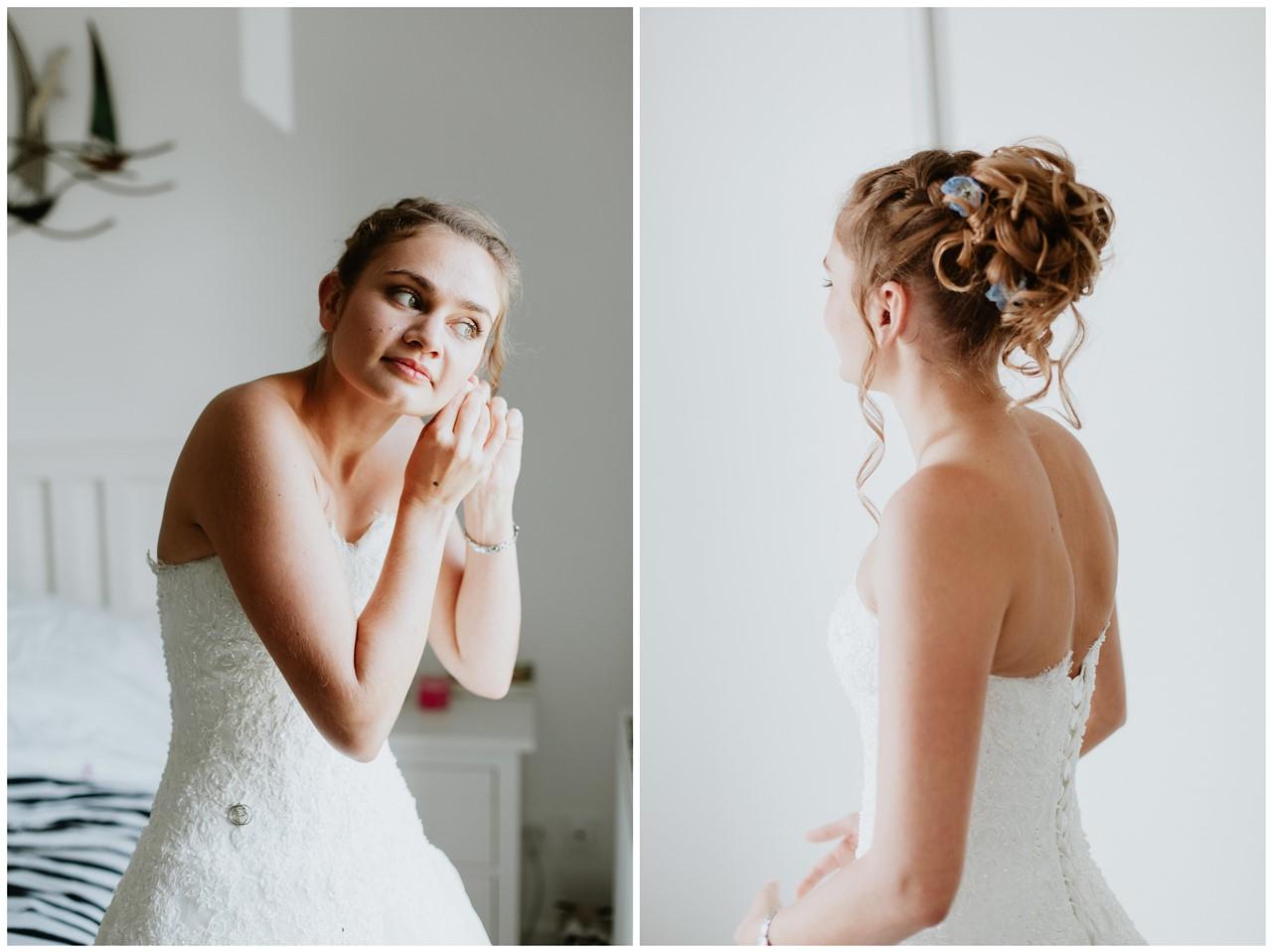 portraits préparation mariée