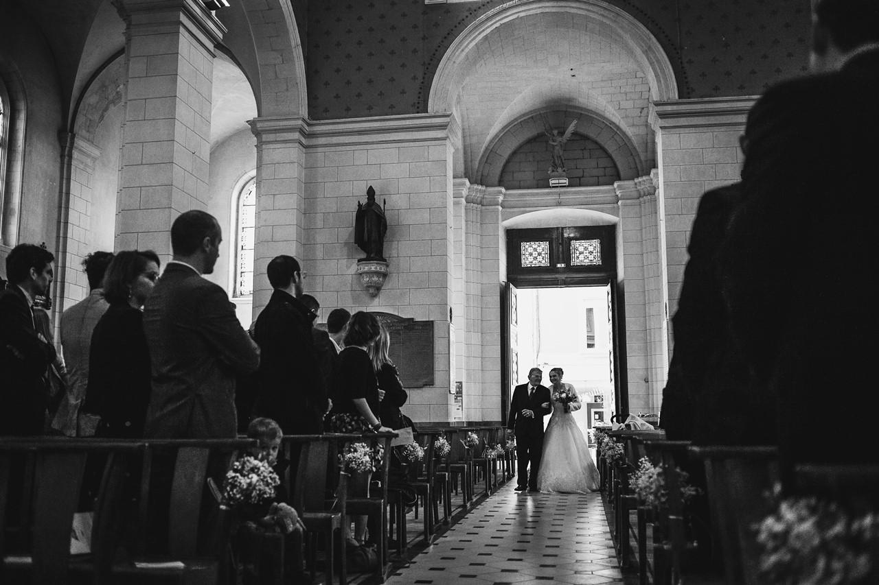 Rentrée mariée église St Etienne de Montluc