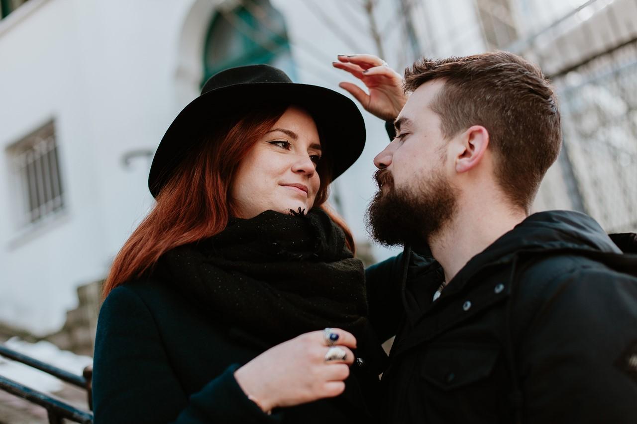 séance couple regards amoureux