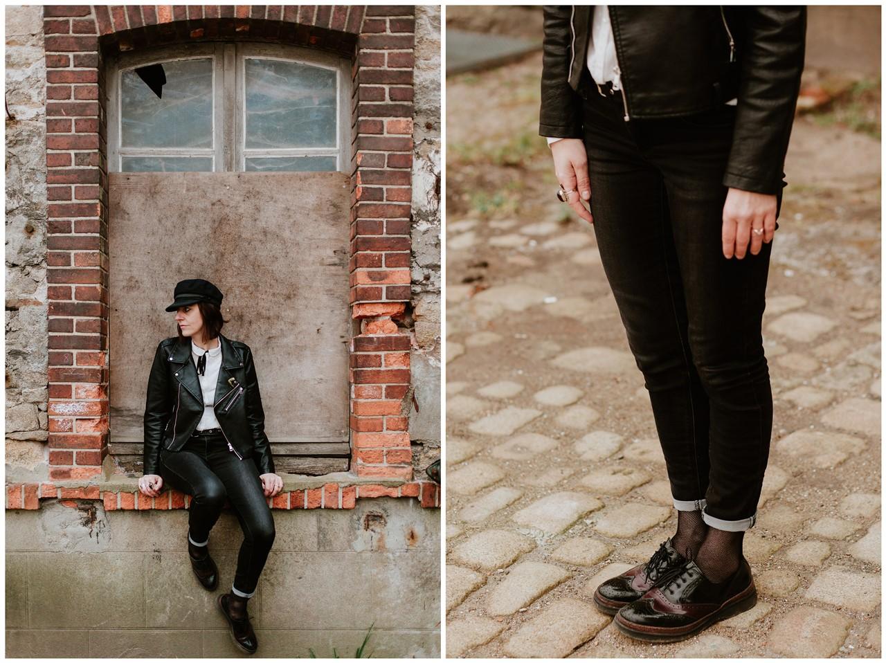 séance couple rock nantes portrait femme vêtements