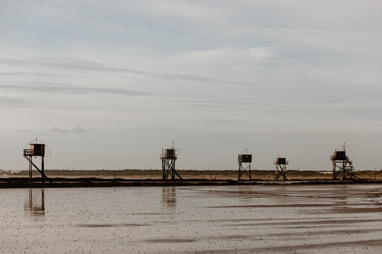 séance engagement plage mer pornic paysage pecherie