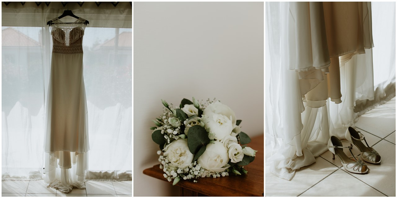 mariage cholet préparation robe de mariée et bouquet