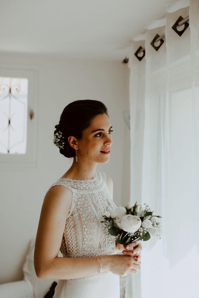 mariage cholet préparation mariée portrait fenêtre