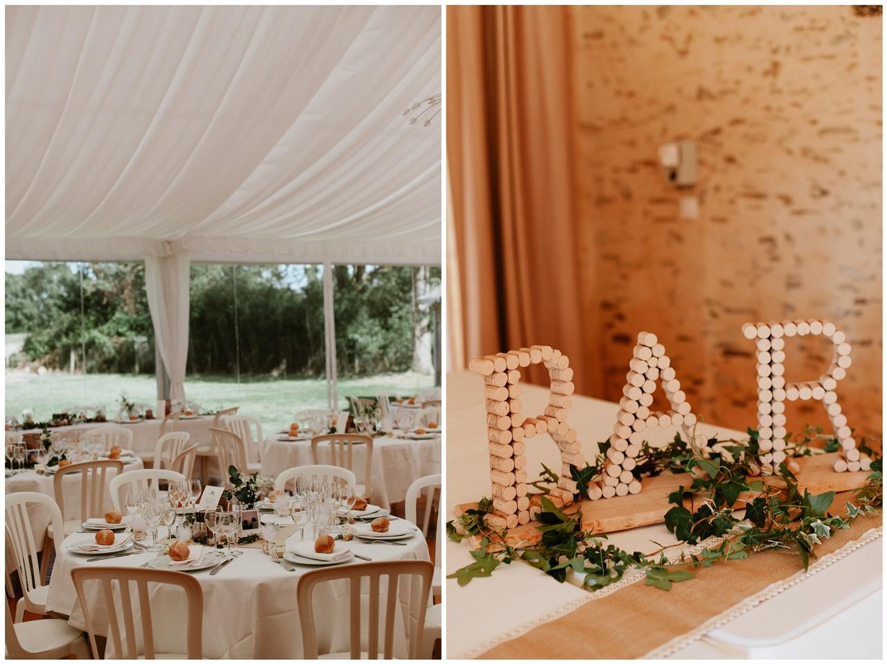 mariage angers château de la Cartrie salle réception tables
