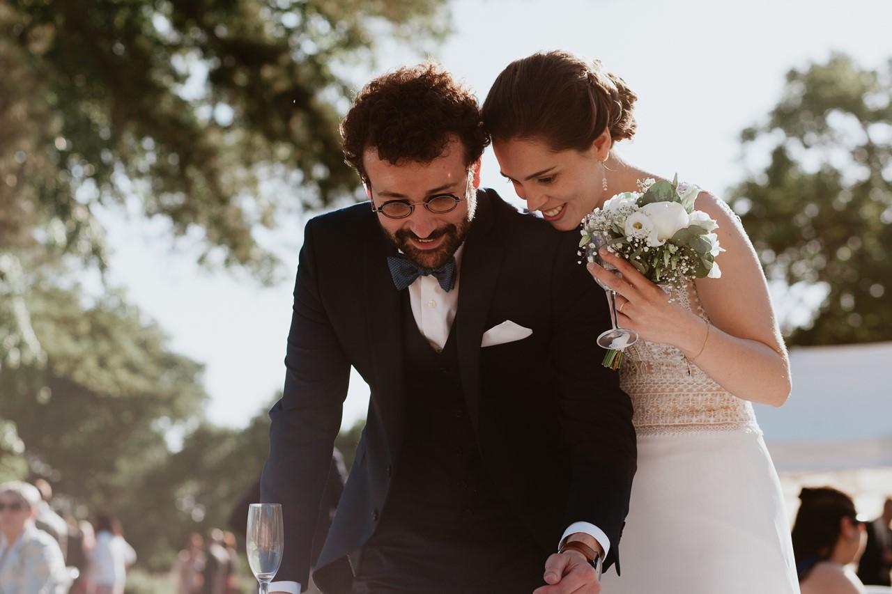 mariage angers château de la Cartrie cocktail photo mariés