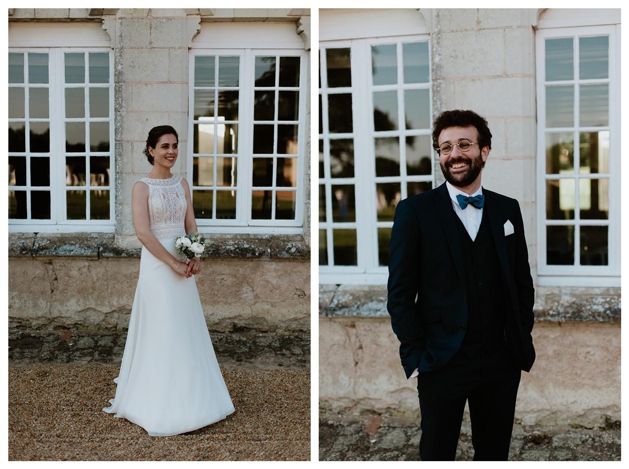 mariage angers château de la Cartrie photo couple portrait des mariés