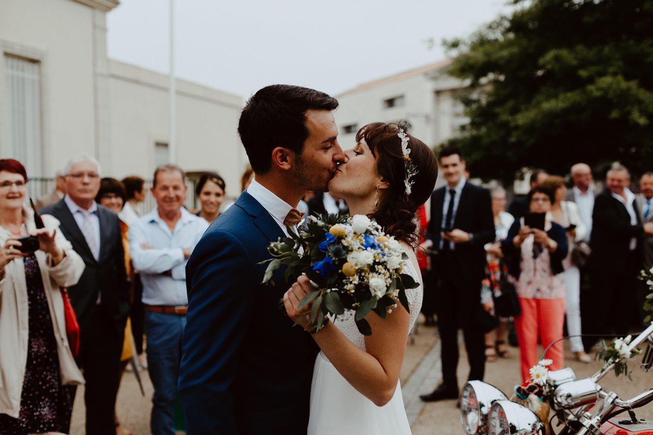 Mariage bohème nantes découverte mariés mairie