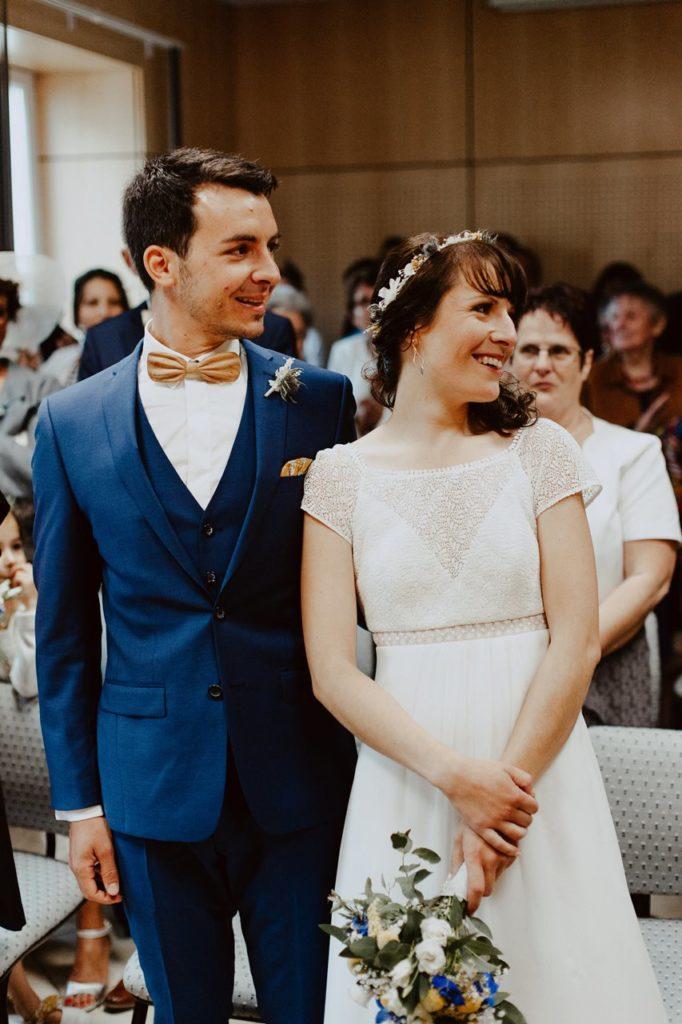 Mariage bohème nantes portraits mariée mairie