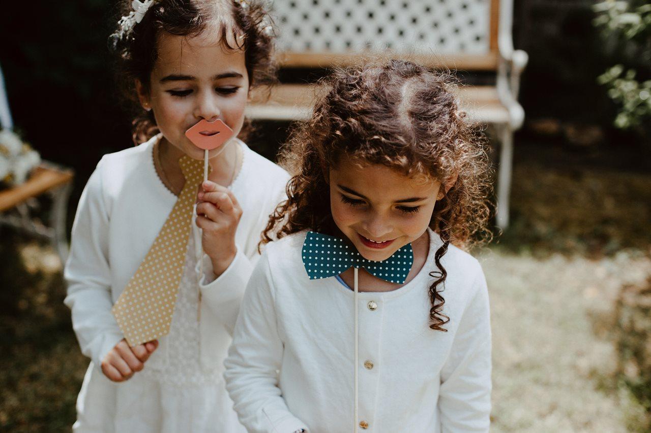 Mariage bohème guermiton portrait enfants photobooth