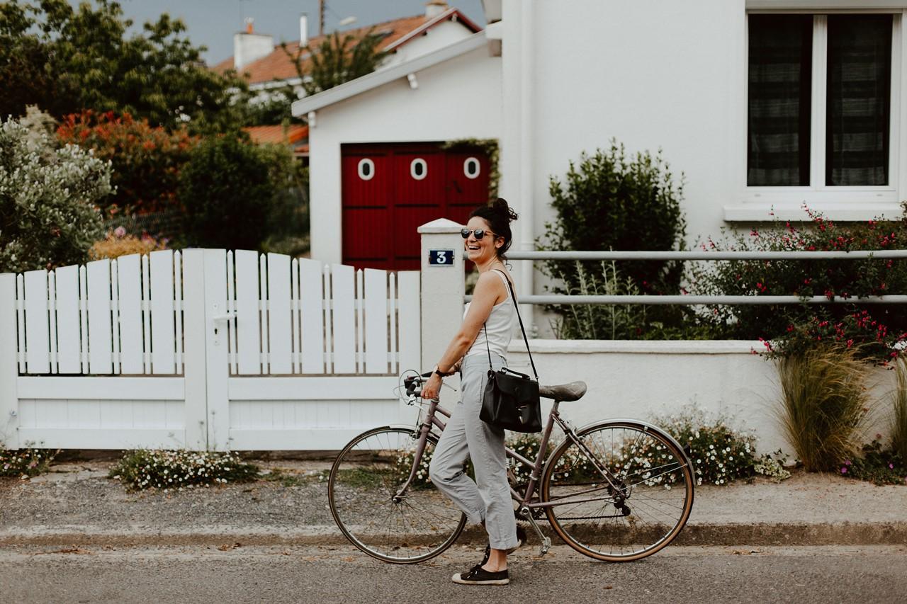 séance portrait lifestyle balade bicyclette rires