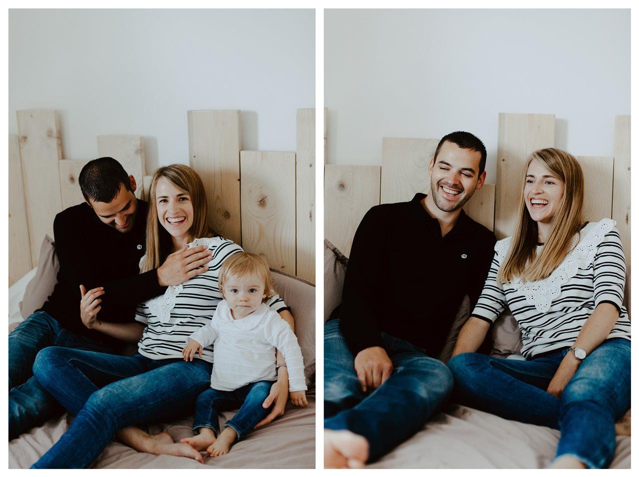séance famille lifestyle maison calin lit parents enfant