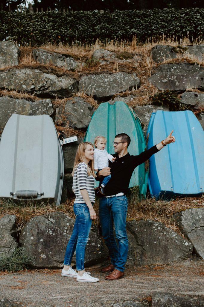séance famille lifestyle mesquer ballade portrait parents enfant bateaux