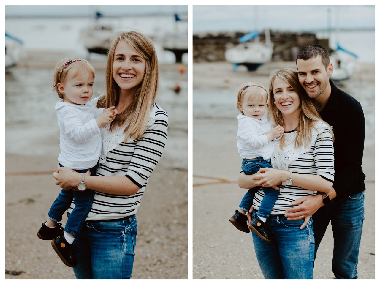 séance famille lifestyle mesquer plage portrait parents enfant