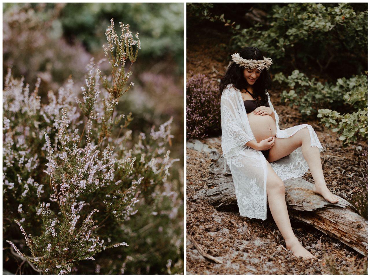 seance-maternité-nature-femme-enceinte-pachamama-détail-fleurs