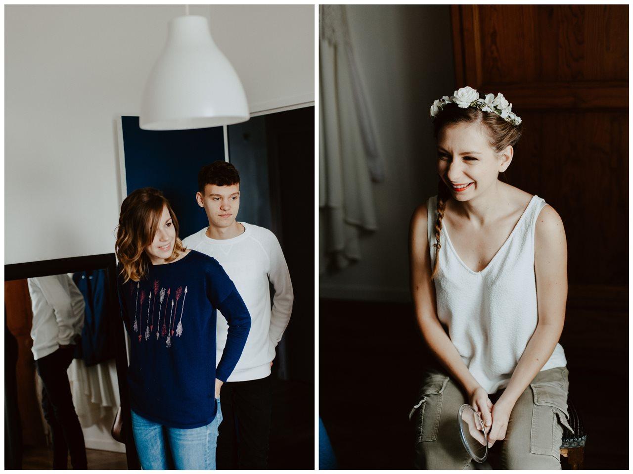 Photographie mariage préparation de la mariée portraits invités