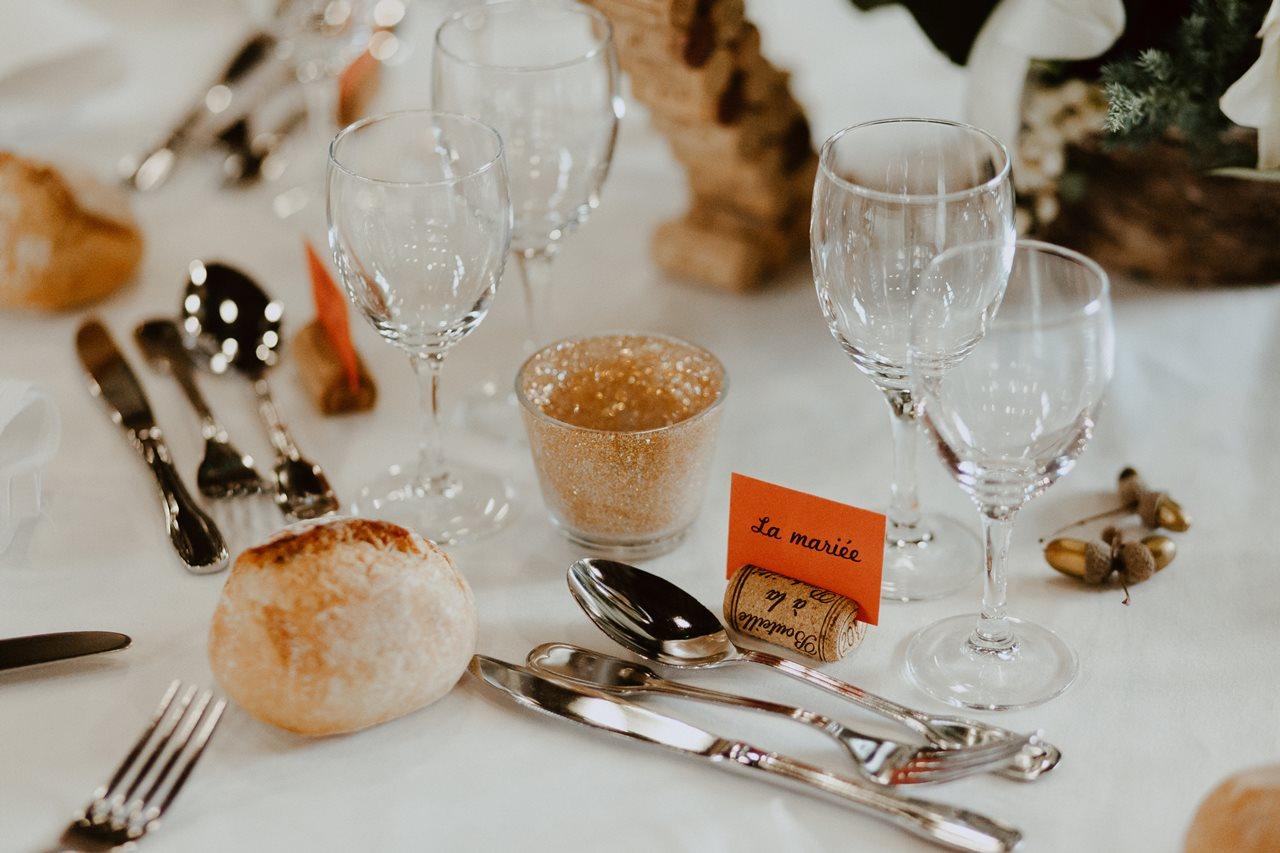 Mariage champêtre guermiton décoration table