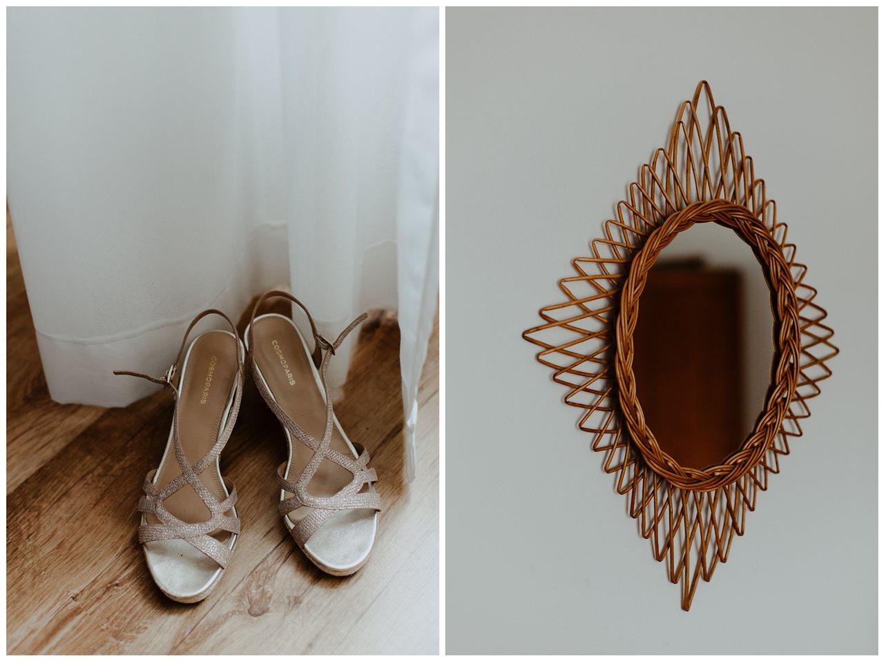 Photographie mariage détails chaussure mariée