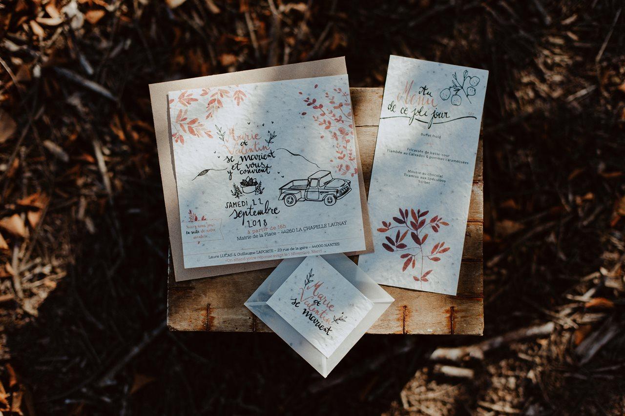 mariage nude désert papeterie invitation mariage invités la cocotte en carton