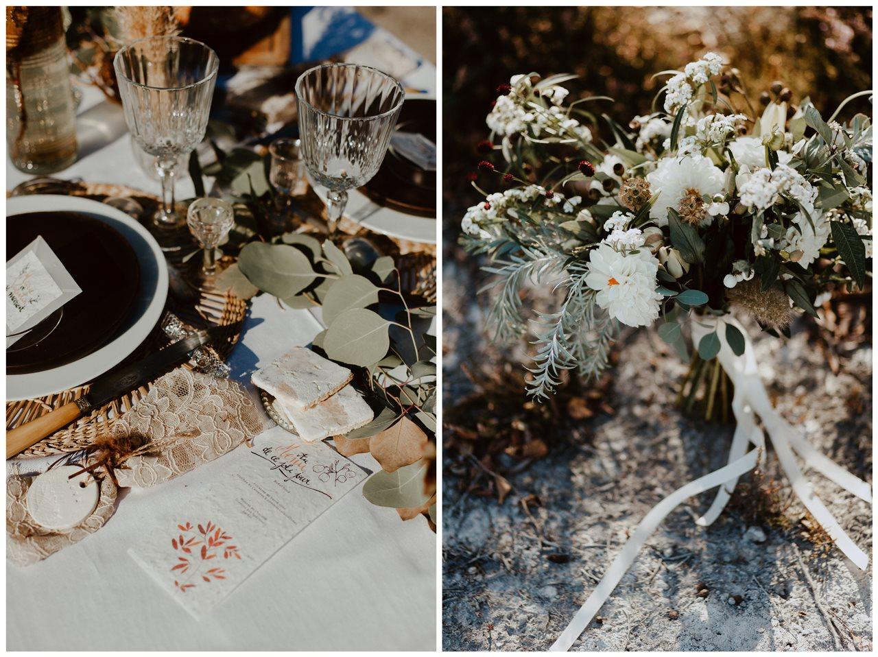 mariage nude table céramique invité LPDV bouquet mariée Blodie bonnor