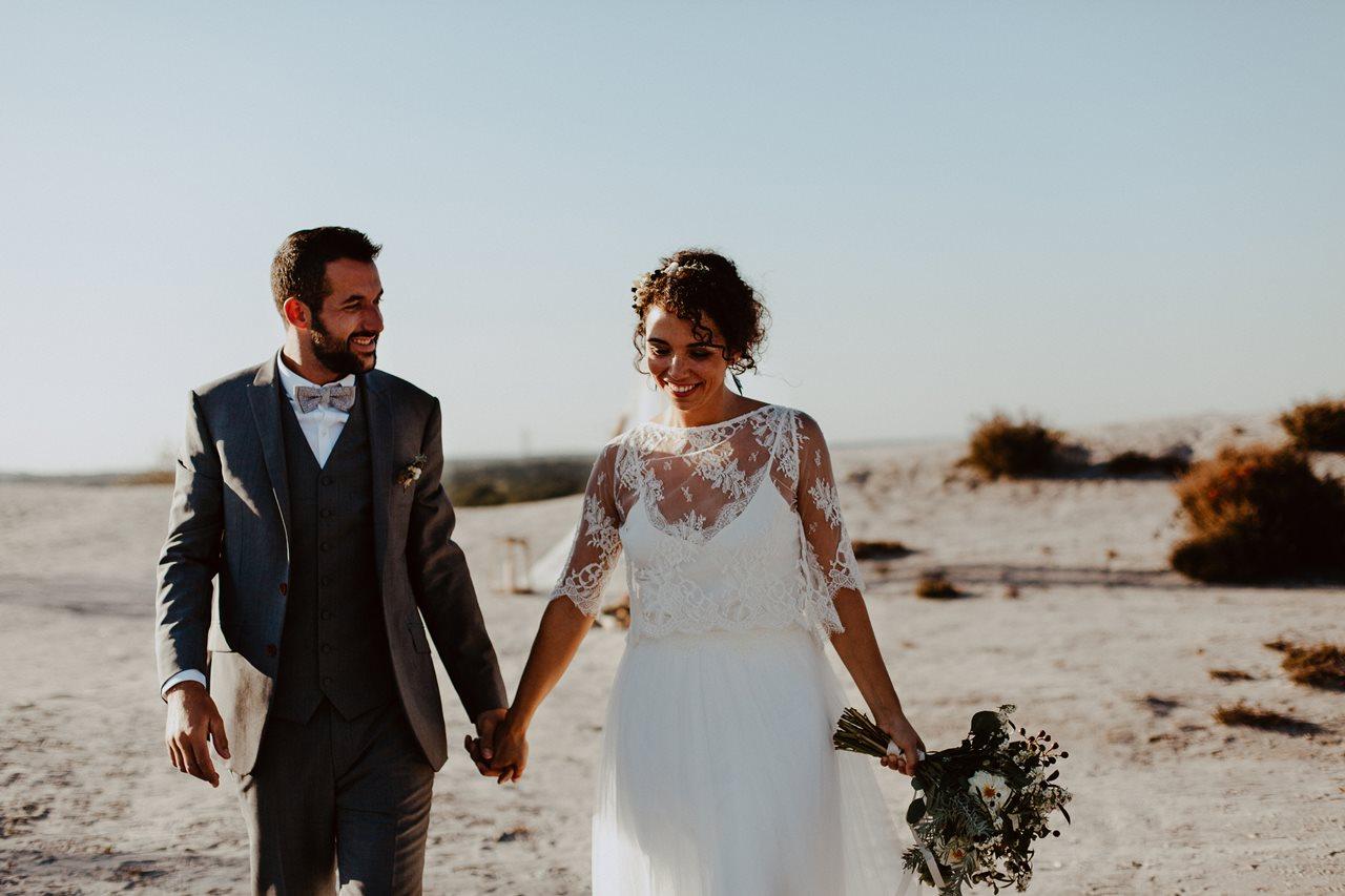mariage nude plage mariés cérémonie laïque
